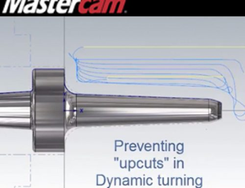 Preventing Upcuts in Mastercam 2018 Dynamic Turning