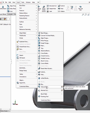 SolidWorks 2018 Tab and Slot