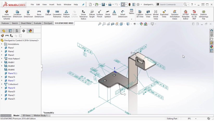 Using Solidworks Dimxpert For Final Inspection Cimquest Inc