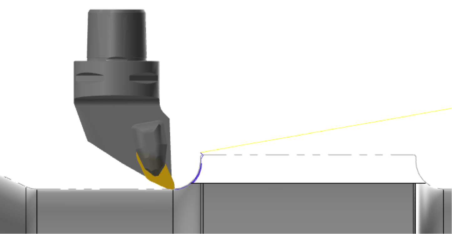 Mastercam 2019 PrimeTurning Toolpath