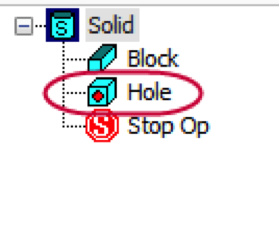 Mastercam Solid Hole Function