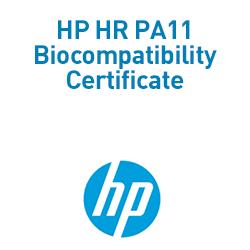 HP HR PA11 Biocompatibility Certificate