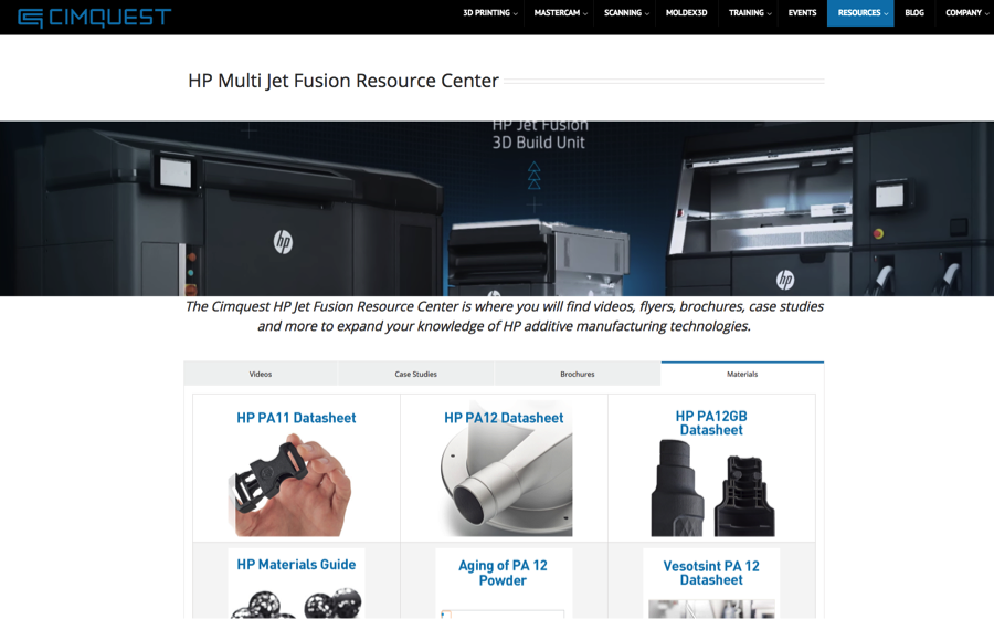 New HP Resource Center Added to Website