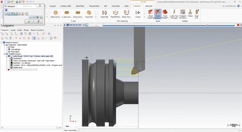 Mastercam 3D Lathe Tools