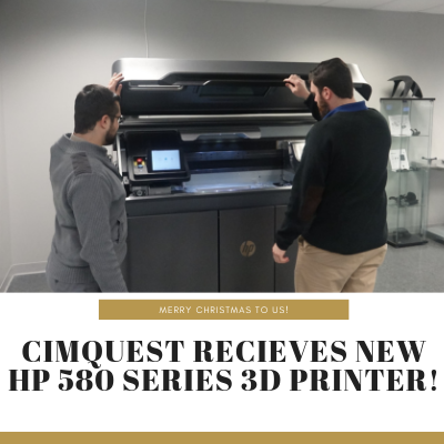 Cimquest Receives New HP 580 Series 3D Printer