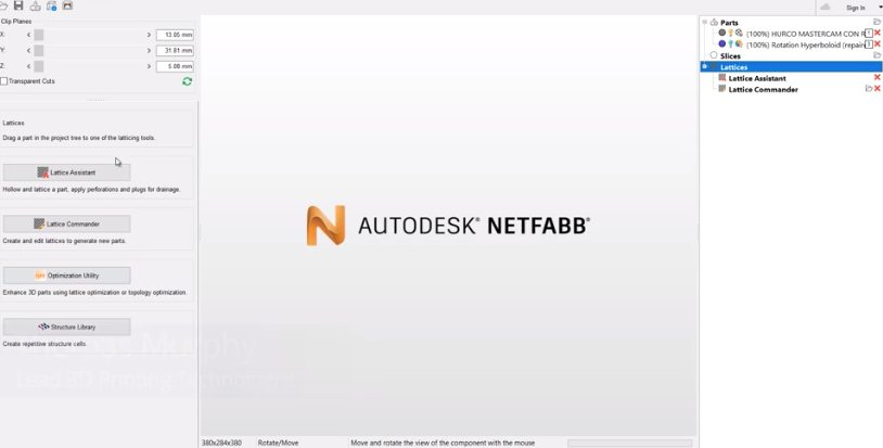 Autodesk Netfabb Lattice Assistant