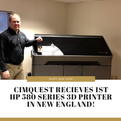 Cimquest Receives 1st HP 580 Series 3D Printer in New England