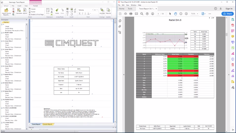 Trend Analysis in Geomagic Control X – Cimquest Inc