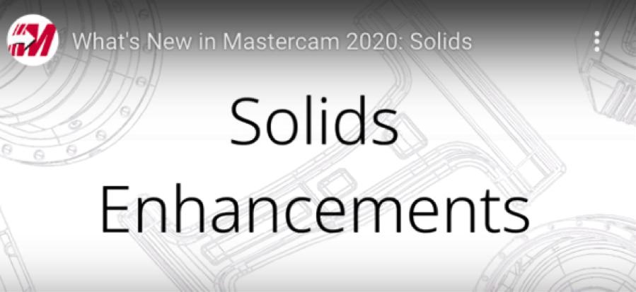 Mastercam 2020 Solids