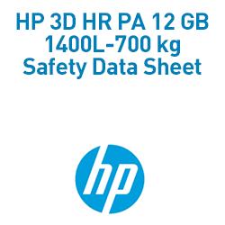 HP 3D HR PA 12 GB 1400L-700 kg Material