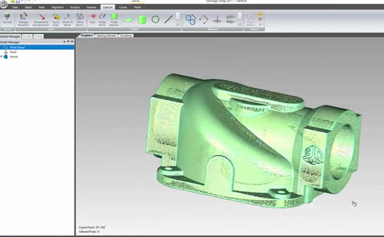 Geomagic Wrap for Point Cloud Editing
