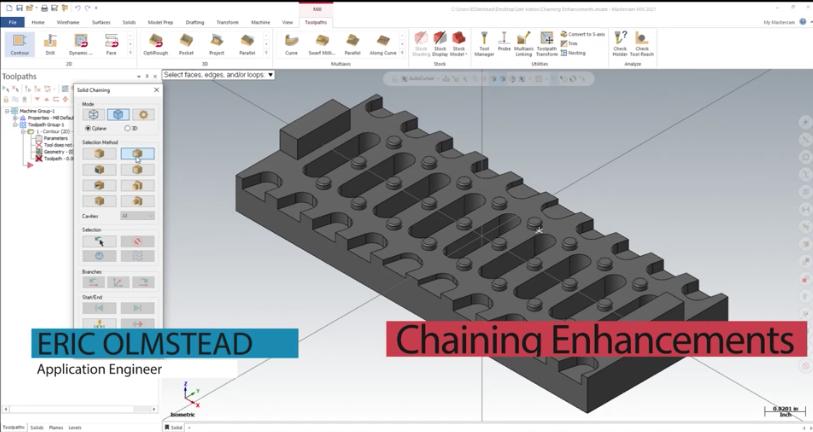 Chaining Enhancements in Mastercam 2021