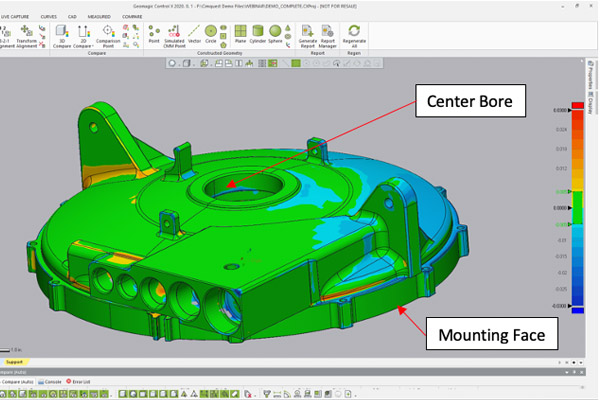The Importance of Scan Alignment to Nominal CAD Model for Inspection
