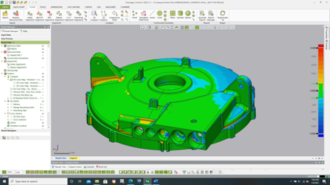 Scan Alignment to Nominal CAD Model for Inspection