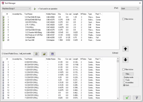 Mastercam Custom Tool Databases