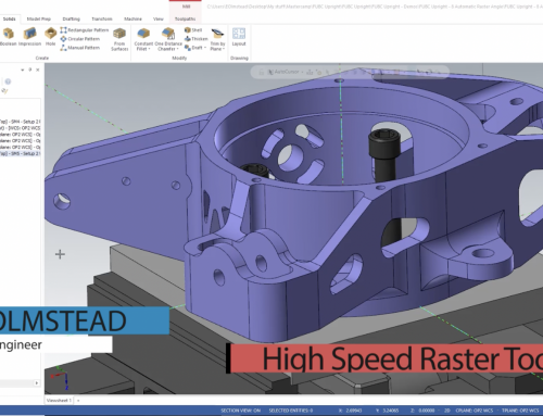 Controlling Tool Motion in Mastercam High Speed Raster Toolpaths