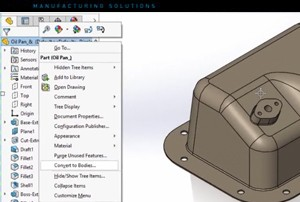 SOLIDWORKS 2017 Convert Features to Bodies and Surfaces