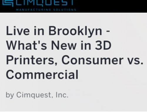 Live in Brooklyn – What's New in 3D Printers Free Seminar