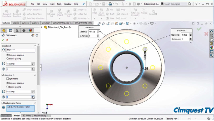 SOLIDWORKS 2017 Patterns and Features UI