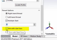 SolidWorks 2017 Multiple Start Threads – Cimquest Inc