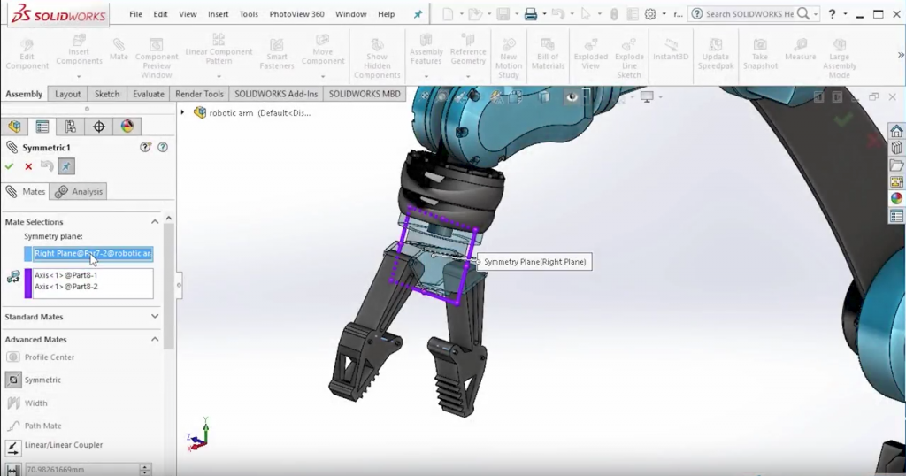SOLIDWORKS 2017 Mate Controller