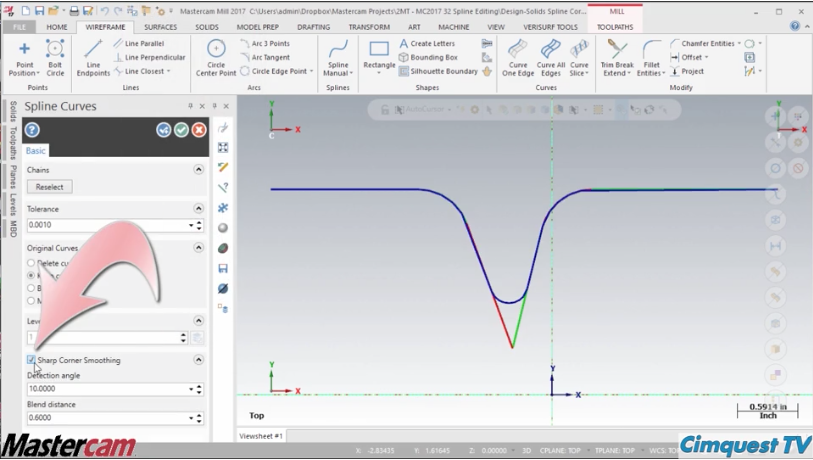 Mastercam Spline Editing – Cimquest Inc , Manufacturing