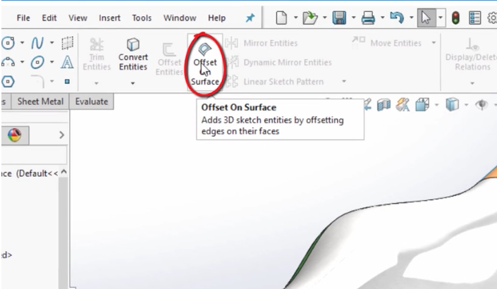 SolidWorks 2017 3D Offset on Curved Surfaces – Cimquest Inc