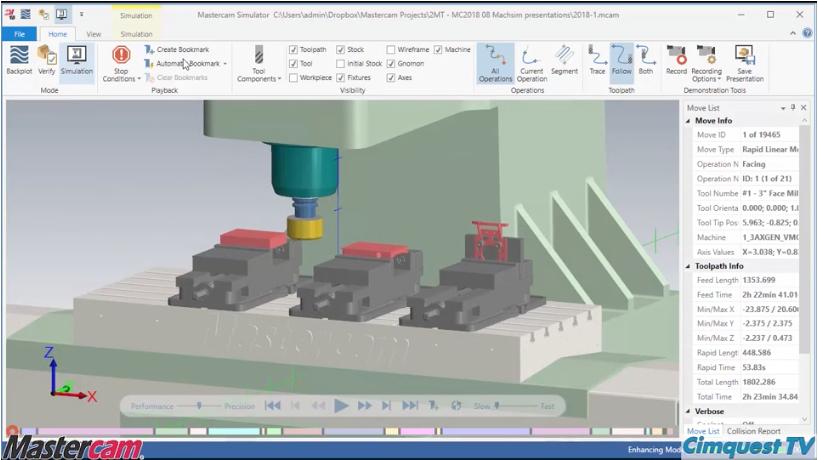 Mastercam 2018 Simulation