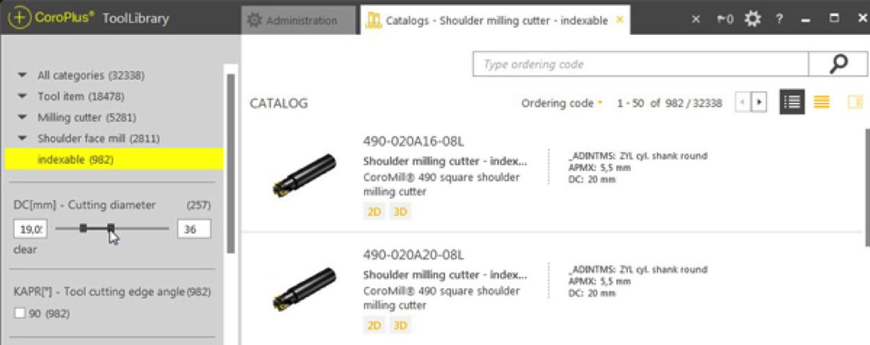Sandvik Coromant CoroPlus® ToolLibrary